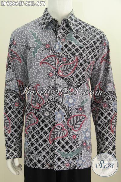 Toko Baju Batik Premium Terlengkap, Sedia Pakaian Batik Halus Mewah Ukuran Jumbo, Kemeja Batik Lengan Panjang Tulis Tangan Motif Bagus Spesial Buat Pria Gemuk Terlihat Lebih Berwibawa, Size XXL