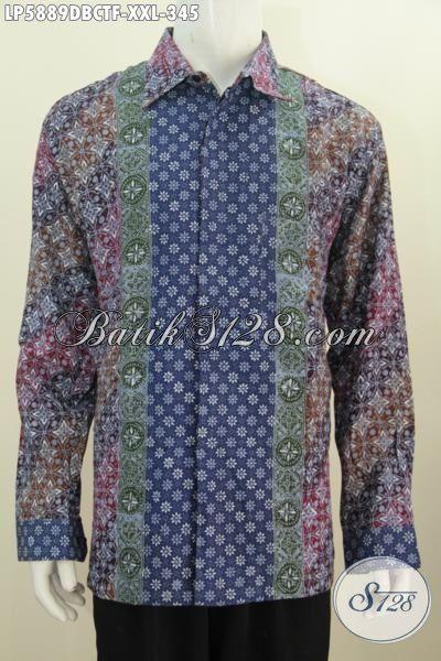 Produk Terbaru Baju Batik Elegan Pria Gemuk, Busana Batik Istimewa Proses Motif Cap Tulis Dengan Bahan Kain Dolby Untuk Tingkat Kenyamanan Yang Lebih Baik Di Pakai [LP5889DBCTF-XXL]