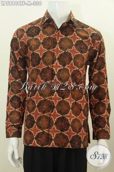 Busana Batik Mewah Istimewa Buatan Solo Trend Mode 2016, Baju Batik Lengan Panjang Pakai Furing Motif Bagus Proses Cap Tulis  Di Jual Online Harga Grosir, Size M