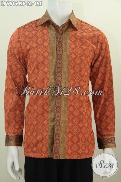 Baju Hem Bahan Tenun Kwalitas Premium, Baju Kerja Istimewa Khas Jawa Tengah Hadir Dengan Motif Terbaru Lebih Mewah Daleman Full Furing, Size M