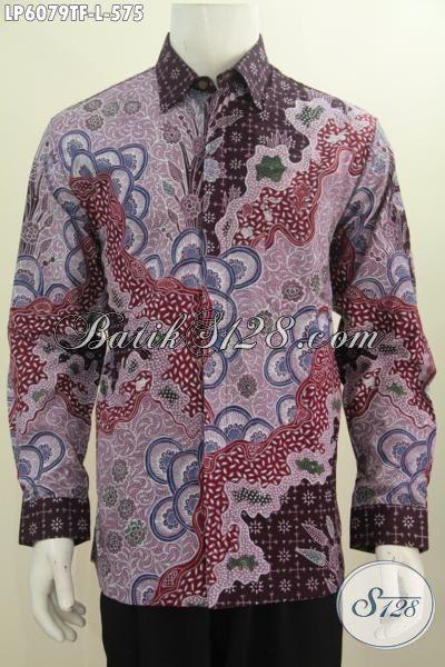 Agen Baju Batik Premium Paling Lengkap Di Solo, Jual Online Kemeja Batik Halus Lengan Panjang Full Furing Motif Terkini Proses Tulis Tangan 500 Ribuan, Size L