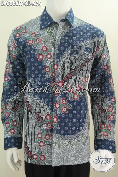 Kemeja Batik Ukuran XL Untuk Pria Dewasa Karir Sukses, Hem Batik Halus Premium Lengan Panjang Pake Furing Asli Tulis Tangan