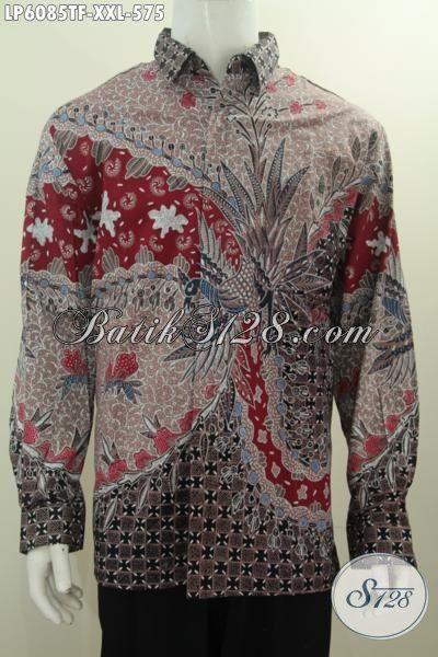 Pakaian Batik Halus Motif Mewah Bahan Adem Proses Tulis Tangan, Baju Batik Istimewa Berkelas Untuk Lelaki Gemuk Tampil Gagah Dan Elegan, Size XXL