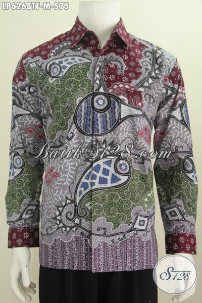 Kemeja Batik Klasik Nan Modis, Hem Batik Lengan Panjang Pakai Furing, Motif Klasik Tulis Tangan Bahan Adem Yang Nyaman Di Pakai