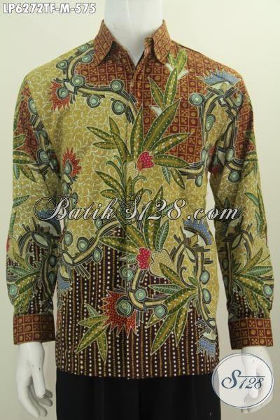 Toko Baju Batik Online Istimewa, Hem Batik Lengan Panjang Full Furing Berbahan Halus Proses Tulis Untuk Tampil Elegan Dan Gagah, Size M