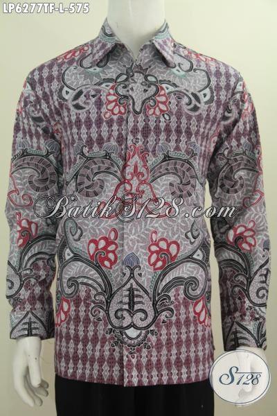 Produk Pakaian Batik Halus Lengan Panjang Premium, Baju Batik Jawa Halus Tulis Tangan Daleman Di Lengkapi Furing Untuk Tampil Lebih Istimewa, Size L