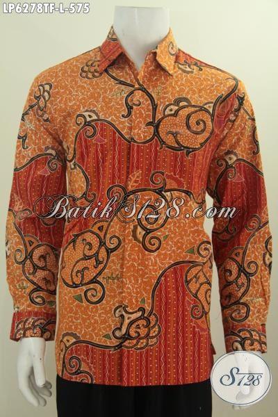 Jual Produk Kemeja Batik Premium, Hem Batik Lengan Panjang Mewah Halus Daleman Pakai Furing Berbahan Adem Proses Tulis Tangan Harga 575K, Size L
