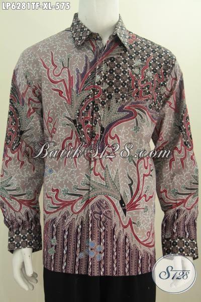 Pusat Belanja Pakaian Batik Online Kwalitas Premium Harga Terjangkau, Sedia Hem Lengan Panjang Full Furing Motif Mewah Proses Tulis, Size XL 500 Ribuan