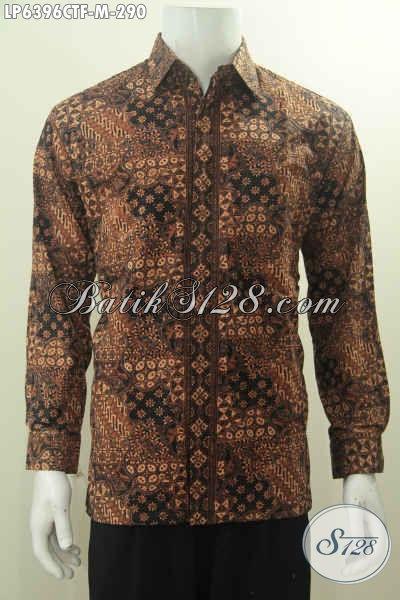 Kemeja Batik Motif Klasik Proses Cap Tulis, Pakaian Bati Lengan Panjang Desain Formal Cocok Buat Rapat Dengan Daleman Full Furing Harga 290K, Size M