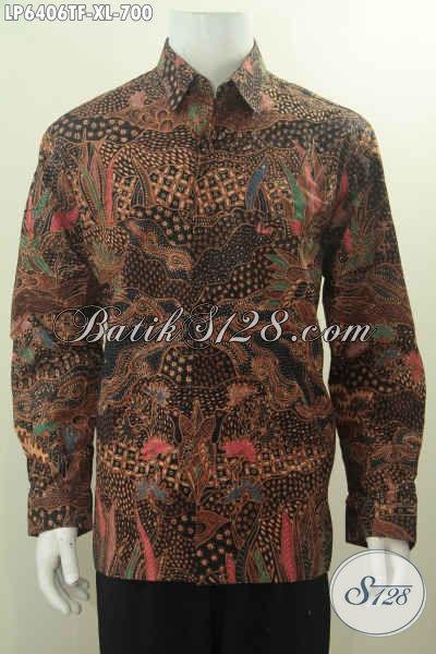 Hem Batik Halus Mewah Motif Terkini, Kemeja Batik Pejabat 2016 Baha Kwalitas Tinggi Harga 700 Ribu Model Lengan Panjangh Pake Furing Untuk Tampil Sempurna, Size XL