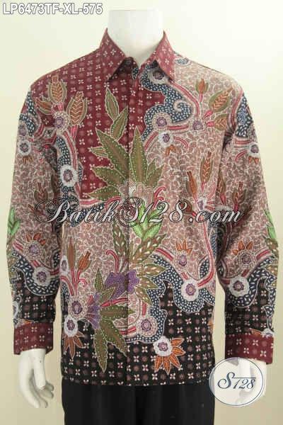 Baju Batik Halus Dan Mewah Model Lengan Panjang Pakai Furing