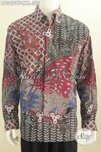 Baju Kemeja Batik Mewah Lengan Panjang Full Furing