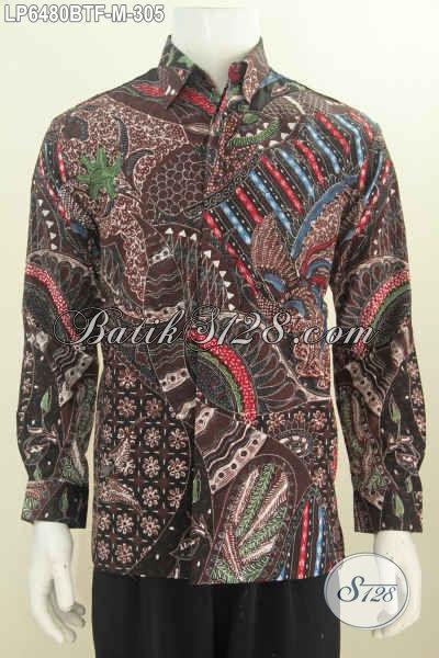 Agen Pakaian Batik Online Paling Up To Date, Sedia Baju Batik Halus Mewah Proses Kombinasi Tulis Model Lengan Panjang Full Furing Harga 300 Ribuan Untuk Pria Muda Tampil Gagah [LP6480BTF-M]