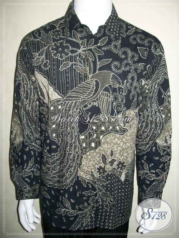 Kemeja Batik Tulis Lengan Panjang Warna Hitam