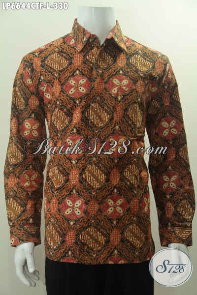 Baju Batik Klasik Lengan Panjang Pria Muda Dan Dewasa Hem