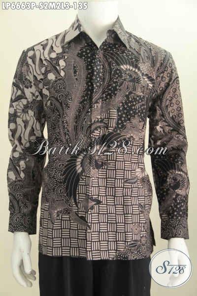 Batik Hem Elegan Lengan Panjang, Baju Batik Cowok Halus Motif Mewah Proses Printing Pas Banget Buat Acara Formal, Size S – M – L