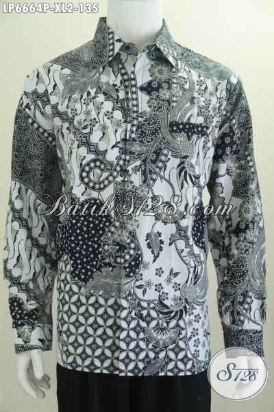 Jual Pakaian Batik Nan Modis, Hem Batik Elegan Lengan Panjang Motif Bagus Proses Printing, Di Jual Online 100 Ribuan, Size XL