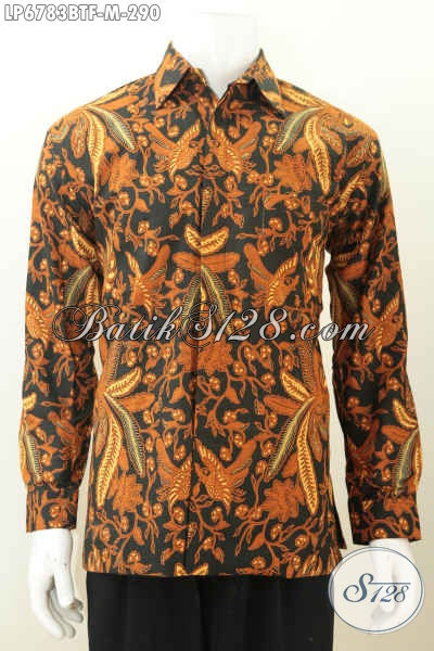 Kemeja Batik Klasik Lengan Panjang Full Furing, Hem Batik Elegan Berbahan Halus Pas Banget Untuk Rapat Dan Kondangan Proses Kombinasi Tulis [LP6783BTF-M]