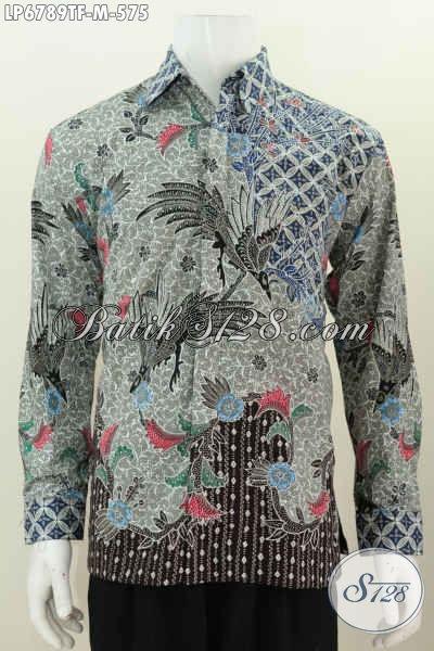 Kemeja Batik Kesukaan Para Eksekutif, Busana Batik Tulis Motif Mewah Model Lengan Panjang Full Furing, Cocok Untuk Rapat Dan Acara Resmi [LP6789TF-M]