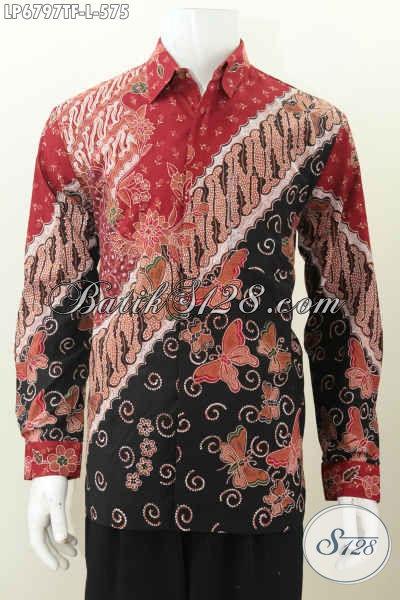 Produk Kemeja Batik Premium Terbaru, Hadir Dengan Motif Mewah Berkelas Buatan Solo Proses Tulis Tangan Asli, Pakaian Batik Istimewa Model Lengan Panjang Pake Furing Tampil Lebih Istimewa [LP6797TF-L]