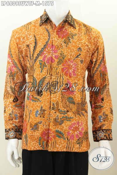 Juragan Baju Batik Premium, Sedia Hem Lengan Panjang Full Furing Motif Bagus Bahan Sutra Twist Untuk Kerja Dan Dan Acara Formal [LP6809SUWTF-M]