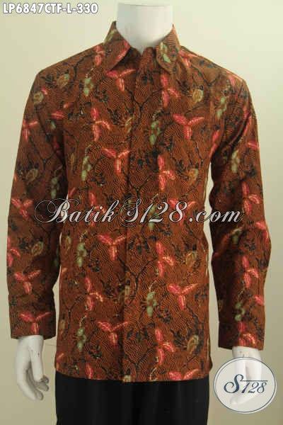 Jual Kemeja Batik Full Furing Lengan Panjang Bahan Halus Motif Mewah Proses Cap Tulis Harga 330 Ribu [LP6847CTF-L]