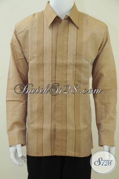 Baju Tenun Pria Lengan Panjang, Exclusive dan Legan, Untuk Pejabat Dan Pengusaha [LP684NF-XL]