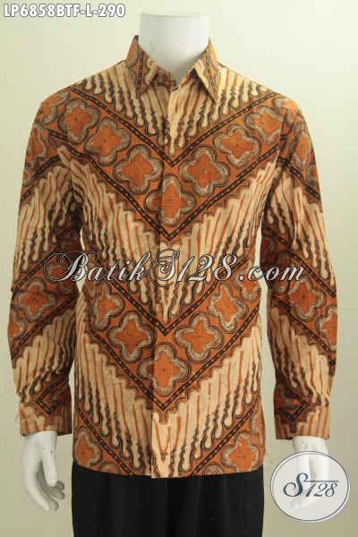 Hem Batik Klasik, Baju Batik Kwalitas Premium Daleman Full Furing Motif Proses Kombinasi Tulis Model Lengan Panjang Pas Untuk Acara Formal [LP6858BTF-L]
