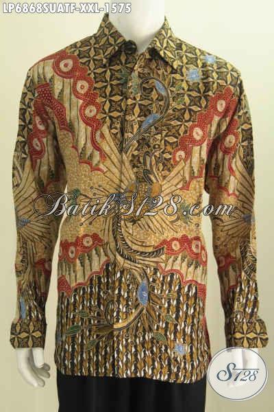 Jual Hem Batik Mewah Bahan Sutra Buat Pria Gemuk Baju