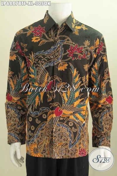 Kemeja Modis Mewah Halus Hanya 300 Ribuan, Pakaian Batik Full Furing Lengan Panjang Kombinasi Tulis Untuk Pria Terlihat Istimewa [LP6887BTF-XL]