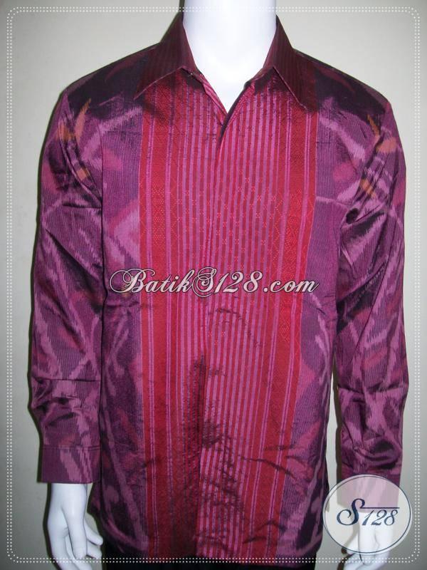 Baju Tenun Ikat Modern Laki Laki Dewasa Ukuran L Dijual