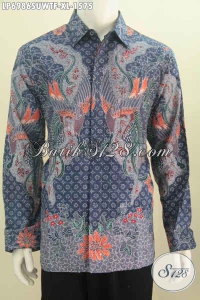 Baju Batik Hem Size Xl Untuk Pria Dewasa Berbahan Sutra