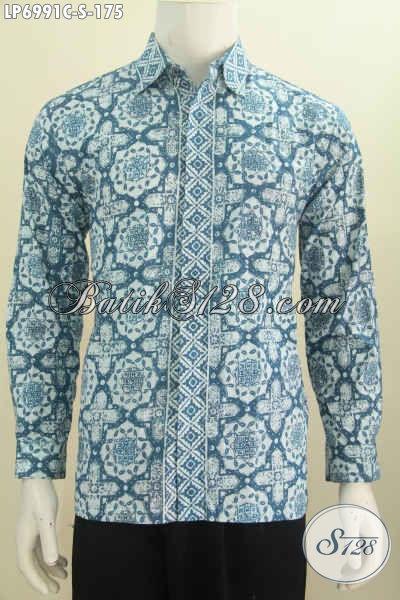 Contoh Baju Batik Pria Warna Cerah