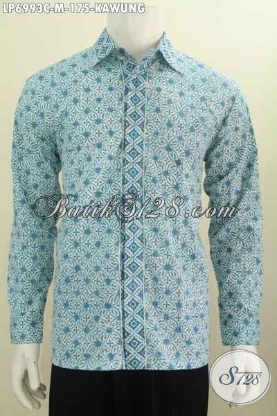 Baju Batik Solo Nan Modis Model Lengan Panjang Warna Keren Proses Cap Hanya 100 Ribuan [LP6993C-M]