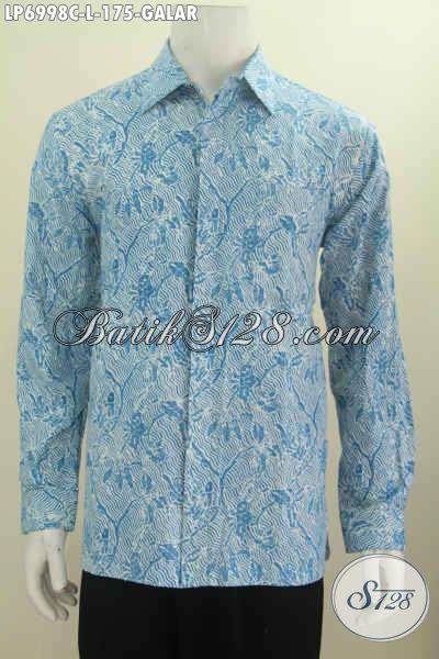 Hem Batik Size L Motif Galar, Baju Batik Lengan Panjang Proses Cap Bikin Lelaki Terlihat Ganteng Maksimal [LP6998C-L]