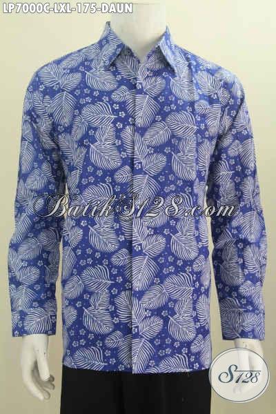 Baju Batik Santai Motif Daun Kemeja Batik Modern Model
