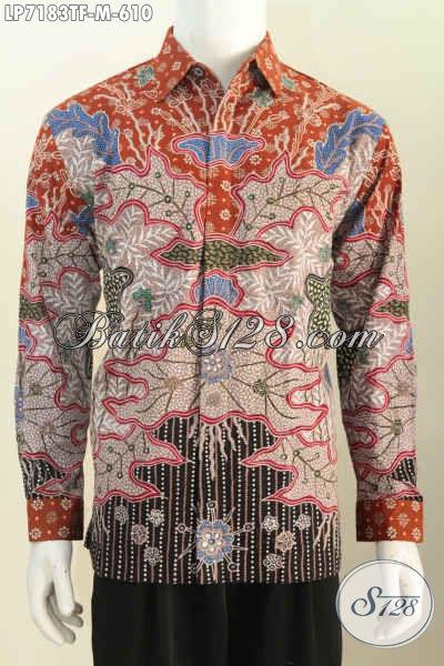 Sedia Baju Batik Mewah, Hem Batik Tulis Lengan Panjang Full Furing Buatan Solo Istimewa Untuk Rapat Dan Acara Formal [LP7183TF-M]
