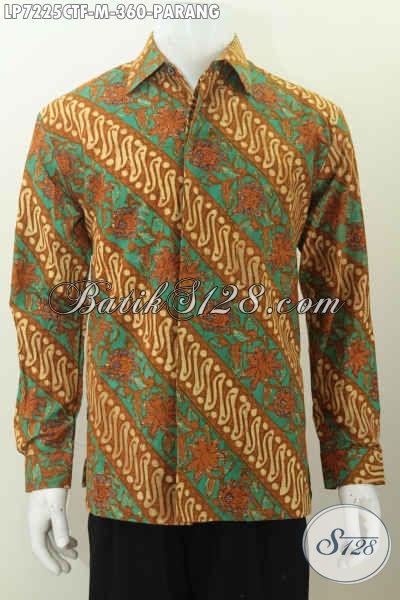 Baju Batik Elegan Mewah Motif Parang Size M Proses Cap Tulis Daleman Full Furing, Cocok Untuk Acara Formal