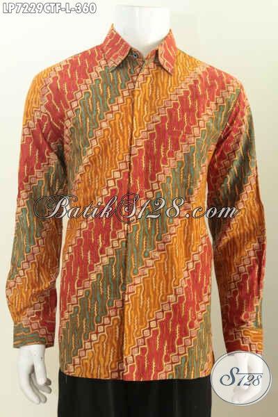 Jual Baju Batik Pria Lengan Panjang Motif Parang Warna