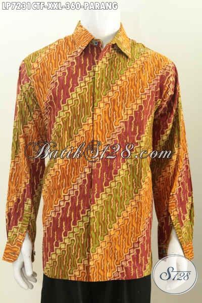 Toko Online Jual Baju Batik Parang Klasik Lengan Panjang Full Furing Proses Cap Tulis 360K, Size XXL