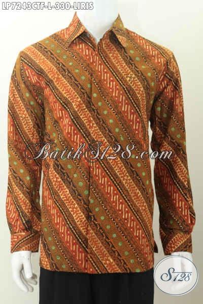 Toko Batik Online Langganan Eksekutif, Sedia Baju Lengan Panajng Full Furing Motif Klasik Liris Proses Cap Tulis 330K, Size L