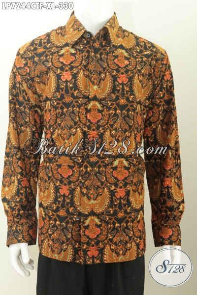 Hem Batik Solo Motif Parang, Baju Batik Istimewa Lengan Panjang Full Furing Untuk Kondangan Juga Bisa, Size XL