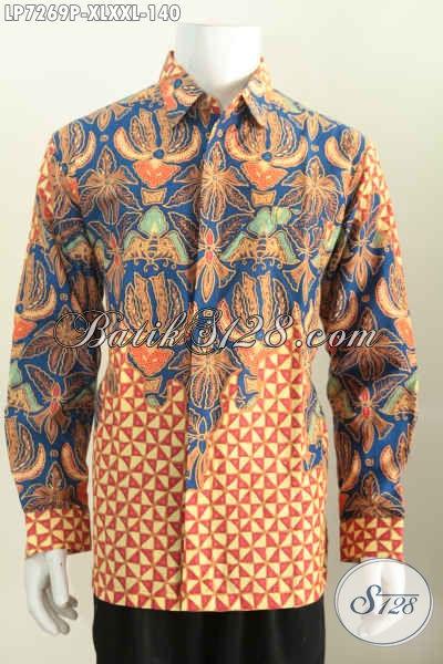 Kemeja Batik Pria Dewasa Baju Batik Lengan Panjang Halus