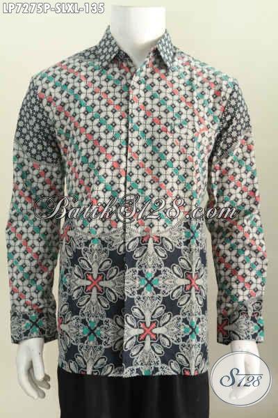 Toko Pakaian Batik Paling Lengkap, Sedia Kemeja Batik Solo Lengan Panjang Proses Printing Harga 135K, Size L