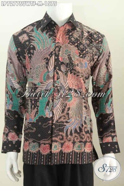 Hem Batik Super Premium, Baju Batik Mewah Bahan Sutra Asli, Busana Batik Pejabat Kwalitas Istimewa Daleman Full Furing Lengan Panjang, Cocok Untuk Acara Formal [LP7277SUWTF-M]