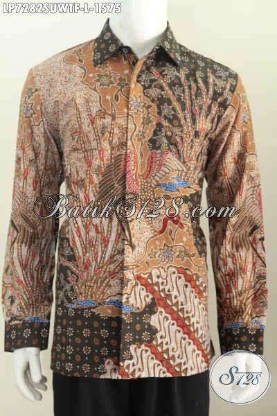 Pakaian Batik Istimewa, Hadir Dengan Bahan Sutra Motif Bagus Model Lengan Panjang Full Furing Untuk Pria Tampil LEbih Berwibawa Dan Mempesona [LP7282SUWTF-L]