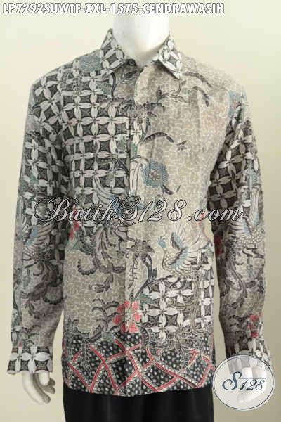 Agen Baju Batik Sutra Pilihan Komplit, Sedia Ukuran Jumbo 3L Spesial Untuk Pria Gemuk Tampil Gagah Berwibawa, Size XXL