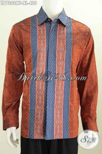 Produk Pakaian Tenun Terbaru, Busana Tenuna Halus Lengan Panjang Full Furing Di Jual Online 420 Ribu, Size XL