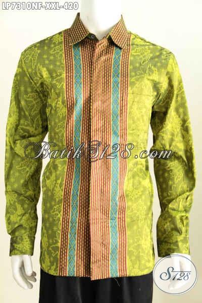 Hem Tenun 3L Lengan Panjang Full Furing, Baju Tenun Istimewa Spesial Untuk Lelaki Gemuk Tampil Gagah Mempesona [LP7310NF-XXL]