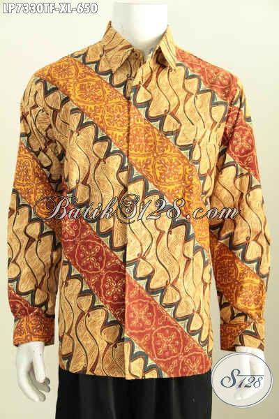Baju Batik Pria Dewasa Kemeja Batik Solo Mewah Full
